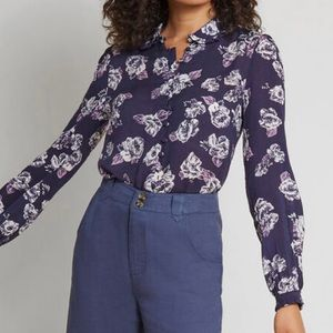 ModCloth Thoroughly Ladylike Button Up Top Size 1X